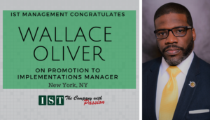 "<span class=""entry-title-primary"">New Promotion within IST</span> <span class=""entry-subtitle"">Congratulations Wallace Oliver, Implementation Manager in New York!</span>"