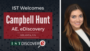 "<span class=""entry-title-primary"">New Employee with IST</span> <span class=""entry-subtitle"">Welcome Campbell Hunt, Account Executive for eDiscovery!</span>"