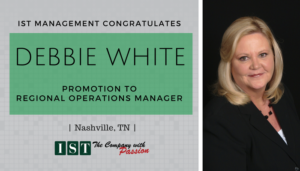 "<span class=""entry-title-primary"">Announcing an IST Promotion</span> <span class=""entry-subtitle"">Congratulations Debbie White, Regional Operations Manager!</span>"