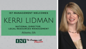 "<span class=""entry-title-primary"">New Employee with IST</span> <span class=""entry-subtitle"">Welcome Kerri Lidman, National Director of Legal Resource Management!</span>"
