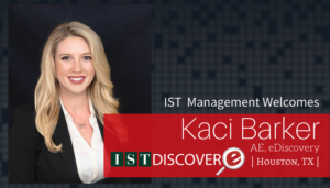 "<span class=""entry-title-primary"">Newest Employee with IST</span> <span class=""entry-subtitle"">Welcome Kaci Barker, Account Executive for eDiscovery!</span>"