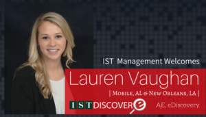 "<span class=""entry-title-primary"">Newest Employee with IST</span> <span class=""entry-subtitle"">Welcome Lauren Vaughan, Account Executive for eDiscovery!</span>"