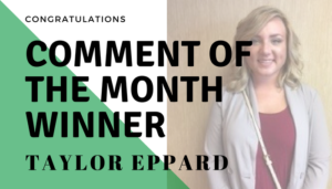 "<span class=""entry-title-primary"">Comment of the Month Winner</span> <span class=""entry-subtitle"">Congratulations Taylor Eppard at Graydon Head & Ritchey!</span>"