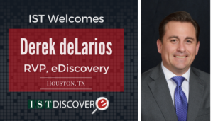 "<span class=""entry-title-primary"">Newest Employee with IST</span> <span class=""entry-subtitle"">Welcome Derek deLarios, RVP for eDiscovery in Houston!</span>"