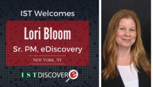 "<span class=""entry-title-primary"">Newest Employee with IST</span> <span class=""entry-subtitle"">Welcome Lori Bloom, Sr. Project Manager with eDiscovery!</span>"