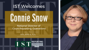 """<span class=""""entry-title-primary"""">Newest Employee with IST</span> <span class=""""entry-subtitle"""">Welcome Connie Snow, National Director of Court Reporting, Operations!</span>"""