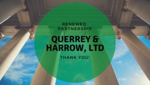 "<span class=""entry-title-primary"">Renewed Partnership with IST</span> <span class=""entry-subtitle"">Thank you, Querrey & Harrow, Ltd. in Chicago!</span>"