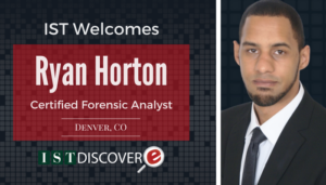 """<span class=""""entry-title-primary"""">Newest Employee with IST</span> <span class=""""entry-subtitle"""">Welcome Ryan Horton, Certified Forensic Analyst for eDiscovery Collections!</span>"""