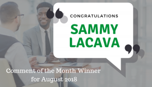 """<span class=""""entry-title-primary"""">Comment of the Month Winner</span> <span class=""""entry-subtitle"""">Congratulations, Sammy LaCava at Jones Day!</span>"""