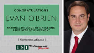 """<span class=""""entry-title-primary"""">New Promotion within IST</span> <span class=""""entry-subtitle"""">Congratulations Evan O'Brien, National Director of Marketing & Business Development!</span>"""
