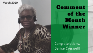 "<span class=""entry-title-primary"">Comment of the Month Winner</span> <span class=""entry-subtitle"">Congratulations Denise Creswell at FCB!</span>"