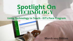 """<span class=""""entry-title-primary"""">Spotlight on Technology</span> <span class=""""entry-subtitle"""">Using Technology to Teach - IST's PACE Program</span>"""