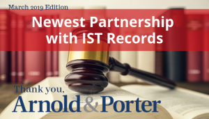 "<span class=""entry-title-primary"">Newest Partnership with IST Records</span> <span class=""entry-subtitle"">Thank you, Arnold & Porter!</span>"