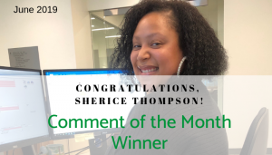 """<span class=""""entry-title-primary"""">Comment of the Month Winner</span> <span class=""""entry-subtitle"""">Congratulations, Sherice Thompson at CACI!</span>"""