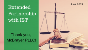 """<span class=""""entry-title-primary"""">Extended Partnership with IST</span> <span class=""""entry-subtitle"""">Thank you, McBrayer PLLC in Louisville, KY!</span>"""