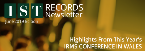 "<span class=""entry-title-primary"">IST Records</span> <span class=""entry-subtitle"">IRMS Conference Highlights from 2019</span>"