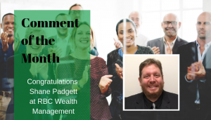 """<span class=""""entry-title-primary"""">Comment of the Month Winner</span> <span class=""""entry-subtitle"""">Congratulations Shane Padgett at RBC Wealth Management!</span>"""