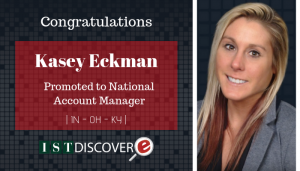 "<span class=""entry-title-primary"">New Promotion within IST</span> <span class=""entry-subtitle"">Congratulations Kasey Eckman, Promoted to National Account Manager!</span>"