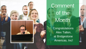 "<span class=""entry-title-primary"">Comment of the Month Winner</span> <span class=""entry-subtitle"">Congratulations, Alex Tallon at Bridgestone Americas, Inc!</span>"