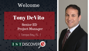 "<span class=""entry-title-primary"">Newest Employee with IST</span> <span class=""entry-subtitle"">Welcome, Tony DeVito, Senior eDiscovery Project Manager!</span>"