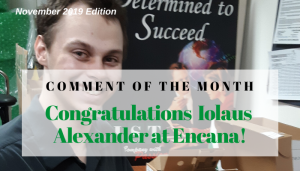 "<span class=""entry-title-primary"">Comment of the Month Winner</span> <span class=""entry-subtitle"">Congratulations Iolaus Alexander at Encana!</span>"