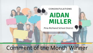 """<span class=""""entry-title-primary"""">Comment of the Month Winner</span> <span class=""""entry-subtitle"""">Congratulations, Aidan Miller at Pine-Richland School District!</span>"""