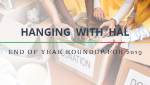 """<span class=""""entry-title-primary"""">Hanging with Hal</span> <span class=""""entry-subtitle"""">End of Year Roundup 2019</span>"""