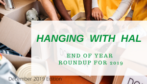 "<span class=""entry-title-primary"">Hanging with Hal</span> <span class=""entry-subtitle"">End of Year Roundup 2019</span>"