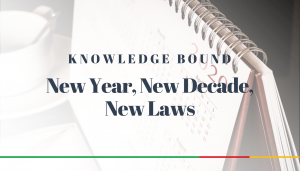 "<span class=""entry-title-primary"">Knowledge Bound</span> <span class=""entry-subtitle"">New Year, New Decade, New Laws</span>"