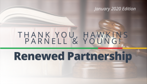 "<span class=""entry-title-primary"">Renewed Partnership with IST</span> <span class=""entry-subtitle"">Thank you, Hawkins Parnell & Young, LLP!</span>"