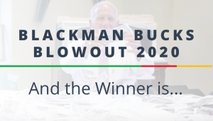 """<span class=""""entry-title-primary"""">Blackman Bucks Blowout 2020</span> <span class=""""entry-subtitle"""">And the Winner is...</span>"""