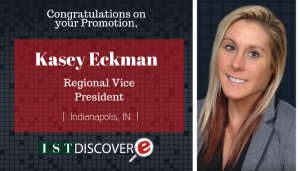 "<span class=""entry-title-primary"">New Promotion within IST</span> <span class=""entry-subtitle"">Congratulations, Kasey Eckman, Promoted to Regional Vice President!</span>"