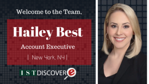 "<span class=""entry-title-primary"">New Employee with IST</span> <span class=""entry-subtitle"">Welcome Hailey Best, Account Executive for eDiscovery in New York!</span>"