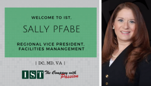 """<span class=""""entry-title-primary"""">Newest Employee with IST</span> <span class=""""entry-subtitle"""">Welcome Sally Pfabe, Regional Vice President for Facilities Management in DC, MD, VA!</span>"""