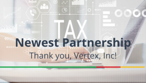 """<span class=""""entry-title-primary"""">Newest Partnership with IST</span> <span class=""""entry-subtitle"""">Thank you, Vertex, Inc!</span>"""