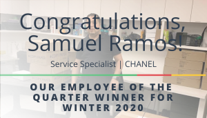 """<span class=""""entry-title-primary"""">Employee of the Quarter Winner</span> <span class=""""entry-subtitle"""">Congratulations to Samuel Ramos, Our WINTER 2020 Winner!</span>"""