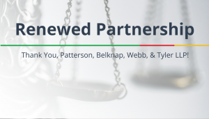 "<span class=""entry-title-primary"">Renewed Partnership with IST</span> <span class=""entry-subtitle"">Thank you, Patterson, Belknap, Webb, & Tyler LLP!</span>"