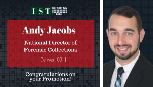 """<span class=""""entry-title-primary"""">Newest Promotion within IST</span> <span class=""""entry-subtitle"""">Congratulations Andy Jacobs, National Director of Forensic Collections!</span>"""