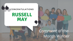 """<span class=""""entry-title-primary"""">Comment of the Month Winner</span> <span class=""""entry-subtitle"""">Congratulations Russell May at Chambliss, Bahner & Stophel, PC!</span>"""