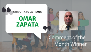 "<span class=""entry-title-primary"">Comment of the Month Winner</span> <span class=""entry-subtitle"">Congratulations to Omar Zapata at Colson Hicks Eidson!</span>"