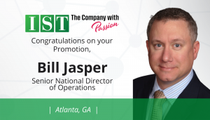 "<span class=""entry-title-primary"">Newest Promotion within IST</span> <span class=""entry-subtitle"">Congratulations Bill Jasper, Promoted to Senior National Director of Operations in Atlanta!</span>"