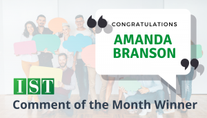 """<span class=""""entry-title-primary"""">Comment of the Month Winner</span> <span class=""""entry-subtitle"""">Congratulations Amanda Branson at Ulmer & Berne!</span>"""