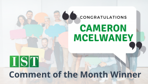 """<span class=""""entry-title-primary"""">Comment of the Month Winner</span> <span class=""""entry-subtitle"""">Congratulations, Cameron McElwaney at UCB, Inc!</span>"""