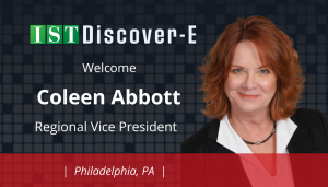 "<span class=""entry-title-primary"">Newest Employee with IST</span> <span class=""entry-subtitle"">Welcome Coleen Abbott, Regional Vice President for eDiscovery in Philadelphia!</span>"