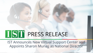 "<span class=""entry-title-primary"">Press Release</span> <span class=""entry-subtitle"">IST Management Announces New Virtual Support Center and Appoints Sharon Munajj as National Director</span>"